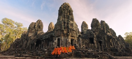 The Bayon Temple at Dusk